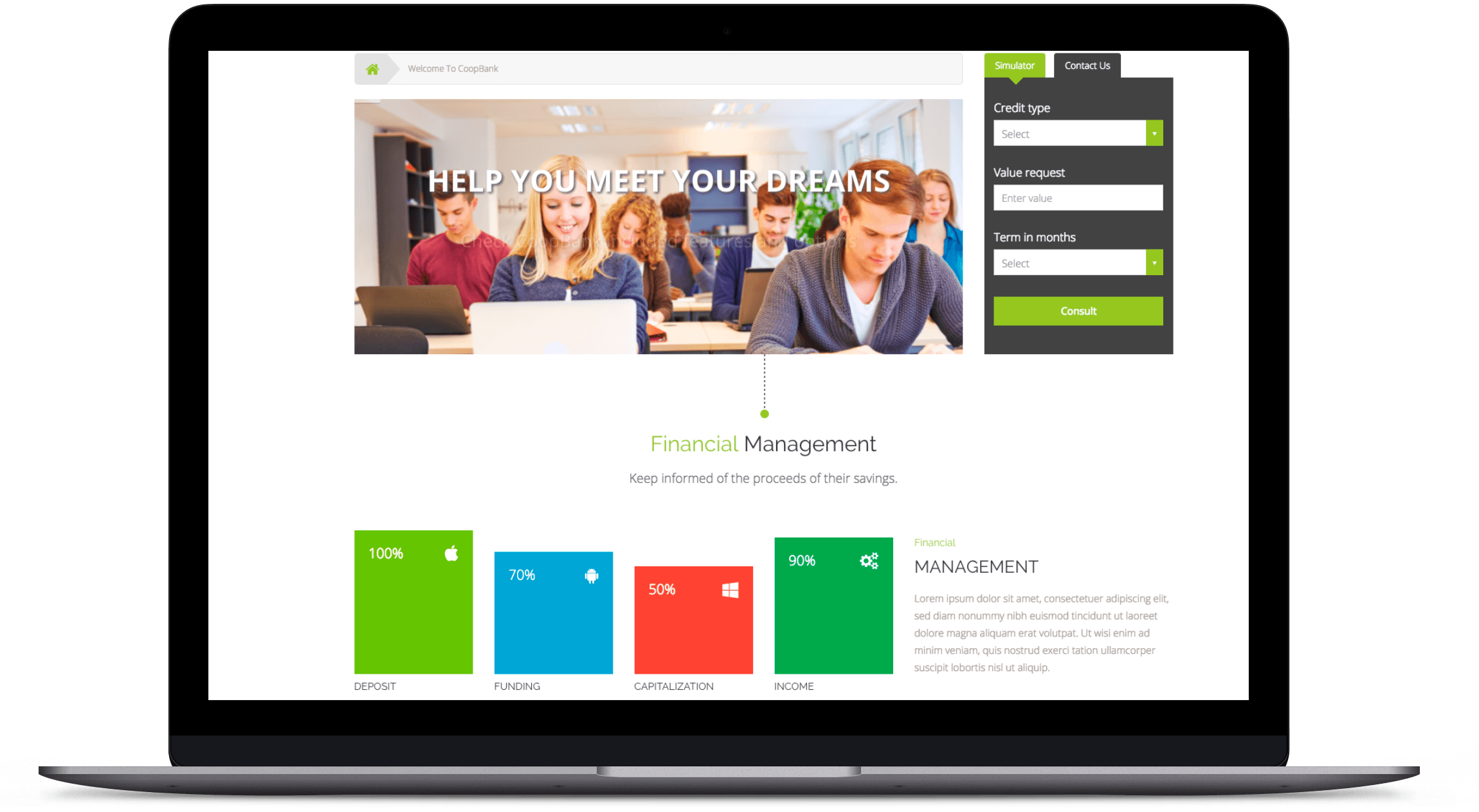 Tema WordPress de Finanzas